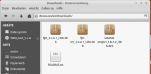 Abb 1.03 Lazarus IDE Download Ordner