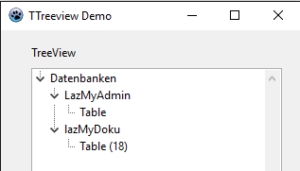Abb. 1.04 TreeView sortiert ohne Images
